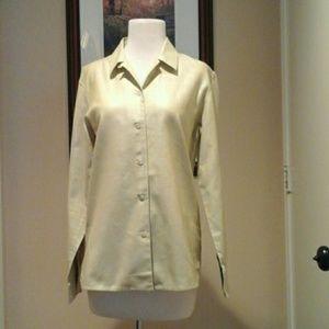 Zanella  long sleeve  button  down   blouse